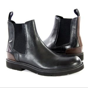 Frye Terra Leather Chelsea Boot Black 10.5 Mens